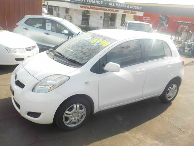 Used Toyota Yaris NCP90R 10 Upgrade YR, 2010 Toyota Yaris NCP90R 10 Upgrade YR White 4 Speed Automatic Hatchback