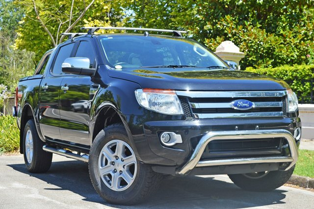 Used Ford Ranger PX XLT Double Cab, 2015 Ford Ranger PX XLT Double Cab Black 6 Speed Sports Automatic Utility