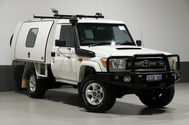 Used Toyota Landcruiser VDJ79R MY12 Update GXL (4x4), 2013 Toyota Landcruiser VDJ79R MY12 Update GXL (4x4) White 5 Speed Manual Cab Chassis