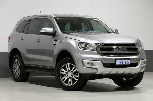 Used Ford Everest UA MY18 Trend (4WD), 2017 Ford Everest UA MY18 Trend (4WD) Aluminium 6 Speed Automatic Wagon