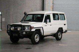 2015 Toyota Landcruiser VDJ78R GXL Troopcarrier White 5 Speed Manual Wagon.