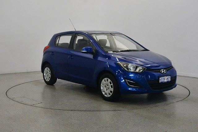 Used Hyundai i20 PB MY14 Active, 2014 Hyundai i20 PB MY14 Active Blue 6 Speed Manual Hatchback