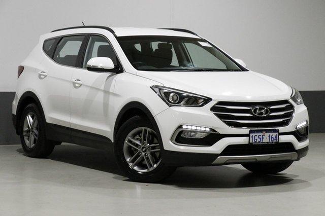 Used Hyundai Santa Fe DM Series II (DM3) Active CRDi (4x4), 2016 Hyundai Santa Fe DM Series II (DM3) Active CRDi (4x4) White 6 Speed Automatic Wagon