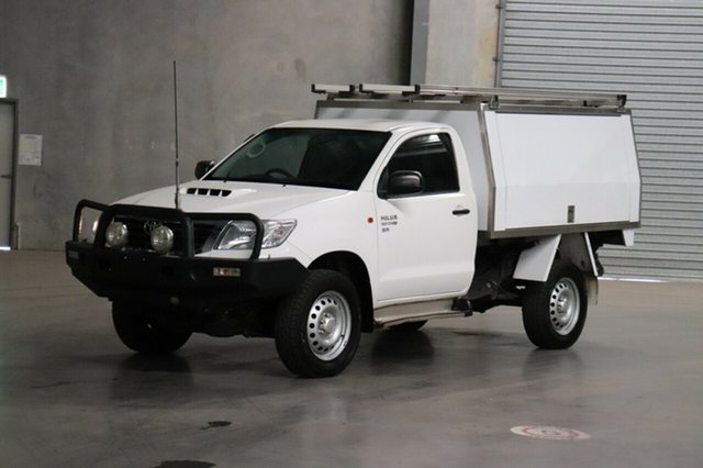 Used Toyota Hilux KUN26R MY14 SR, 2014 Toyota Hilux KUN26R MY14 SR White 5 Speed Manual Cab Chassis