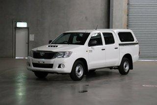 2014 Toyota Hilux KUN16R MY14 SR Double Cab 4x2 White 5 Speed Manual Utility.