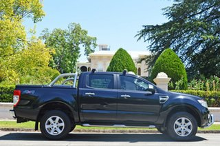 2015 Ford Ranger PX XLT Double Cab Black 6 Speed Sports Automatic Utility.
