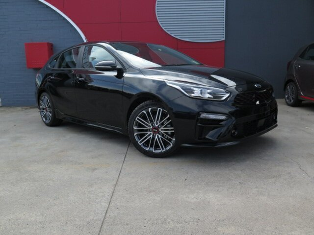 New Kia Cerato BD MY19 GT DCT, 2019 Kia Cerato BD MY19 GT DCT Aurora Black 7 Speed Sports Automatic Dual Clutch Hatchback