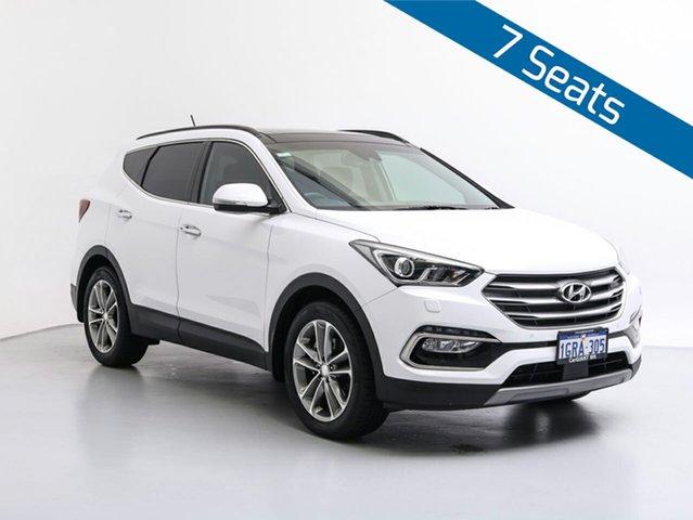 Used Hyundai Santa Fe DM5 MY18 Highlander CRDi (4x4), 2018 Hyundai Santa Fe DM5 MY18 Highlander CRDi (4x4) Pure White 6 Speed Automatic Wagon
