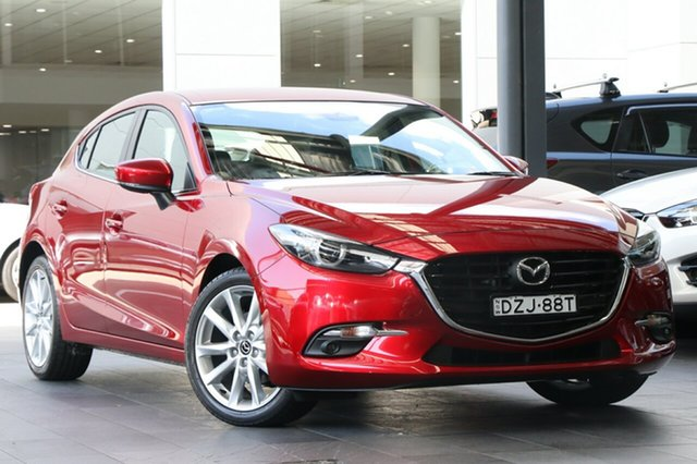 Demo Mazda 3 BN5438 SP25 SKYACTIV-Drive GT, 2018 Mazda 3 BN5438 SP25 SKYACTIV-Drive GT Soul Red Crystal 6 Speed Sports Automatic Hatchback