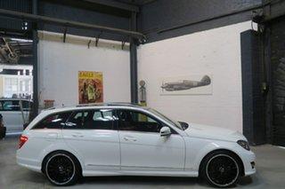 2013 Mercedes-Benz C250 W204 MY13 Avantgarde Estate 7G-Tronic + White 7 Speed Sports Automatic Wagon.