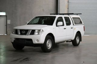 2012 Nissan Navara D40 S6 MY12 RX 4x2 White 5 Speed Automatic Utility.