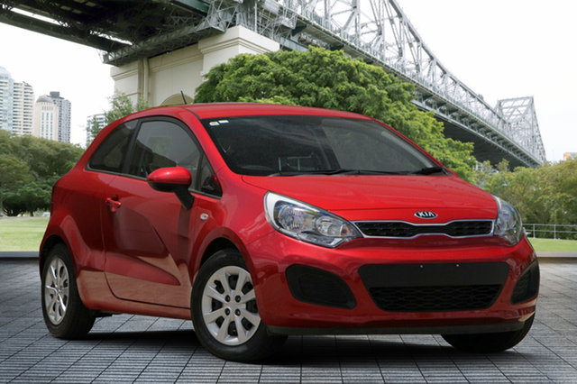 Used Kia Rio UB MY14 S, 2014 Kia Rio UB MY14 S Red/Black 4 Speed Sports Automatic Hatchback
