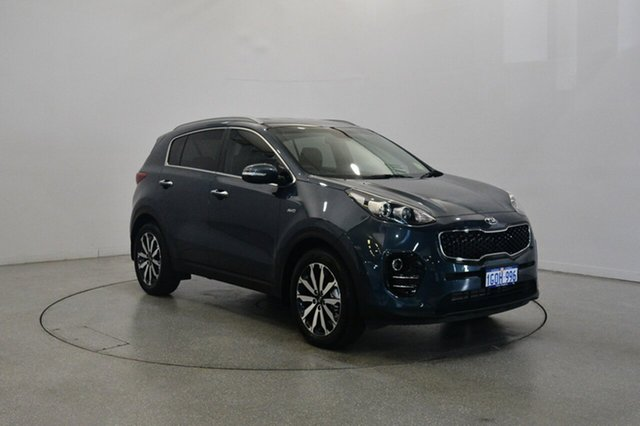 Used Kia Sportage QL MY18 SLi AWD, 2017 Kia Sportage QL MY18 SLi AWD Mercury Blue 6 Speed Sports Automatic Wagon
