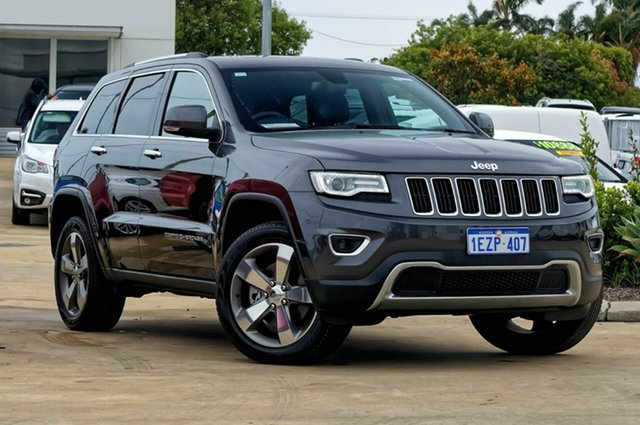 Used Jeep Grand Cherokee WK MY15 Limited, 2016 Jeep Grand Cherokee WK MY15 Limited Granite Crystal 8 Speed Sports Automatic Wagon