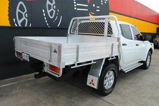 2014 Mitsubishi Triton MN MY15 GLX Double Cab Summit White 5 Speed Manual Utility.