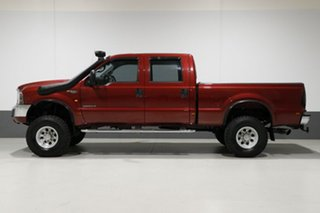 2005 Ford F250 RN XLT (4x4) Red 4 Speed Automatic Crew Cab Pickup