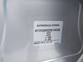 2008 Citroen C3 MY08 HDi Metallic Silver 5 Speed Manual Hatchback