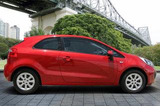 2014 Kia Rio UB MY14 S Red/Black 4 Speed Sports Automatic Hatchback.