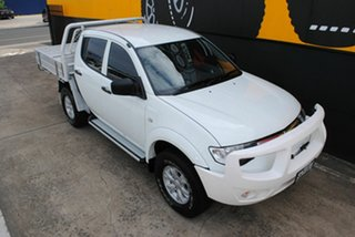 2014 Mitsubishi Triton MN MY15 GLX Double Cab Summit White 5 Speed Manual Utility