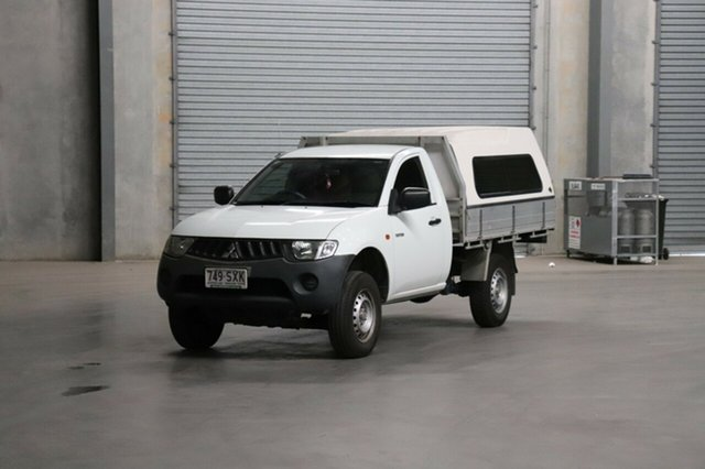 Used Mitsubishi Triton ML MY08 GLX 4x2, 2007 Mitsubishi Triton ML MY08 GLX 4x2 White 4 Speed Automatic Cab Chassis