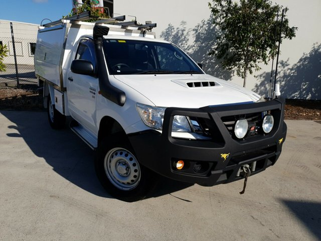 Used Toyota Hilux KUN26R MY14 SR, 2014 Toyota Hilux KUN26R MY14 SR White 5 Speed Automatic Cab Chassis