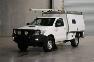 2013 Toyota Hilux KUN26R MY14 SR White 5 Speed Manual Cab Chassis.
