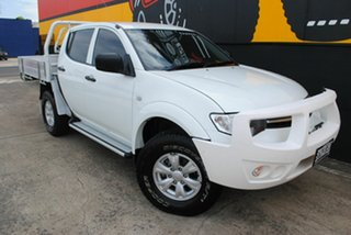 2014 Mitsubishi Triton MN MY15 GLX Double Cab Summit White 5 Speed Manual Utility.