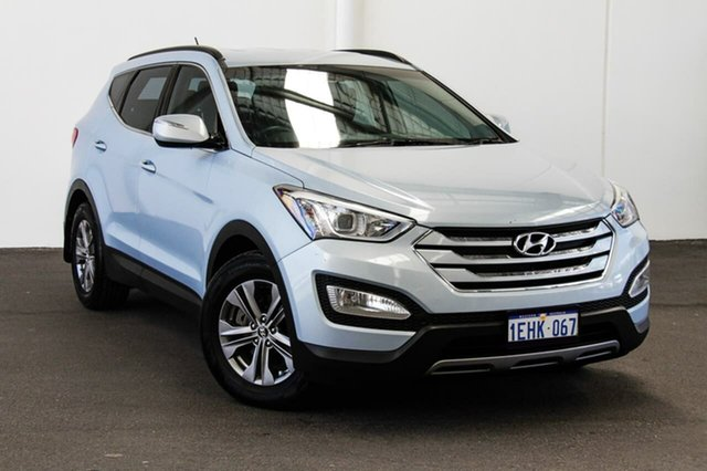 Used Hyundai Santa Fe DM Active CRDi (4x4), 2013 Hyundai Santa Fe DM Active CRDi (4x4) Blue 6 Speed Automatic Wagon