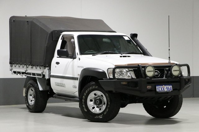 Used Nissan Patrol MY11 Upgrade ST (4x4), 2012 Nissan Patrol MY11 Upgrade ST (4x4) White 5 Speed Manual Coil Cab Chassis