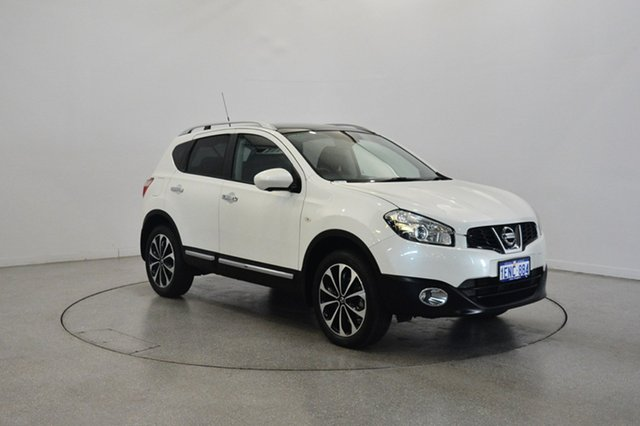 Used Nissan Dualis J10W Series 4 MY13 Ti-L Hatch X-tronic 2WD, 2013 Nissan Dualis J10W Series 4 MY13 Ti-L Hatch X-tronic 2WD Pearl White 6 Speed Constant Variable
