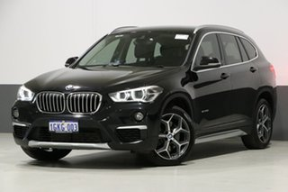 2016 BMW X1 F48 sDrive 20I Black 8 Speed Automatic Wagon.
