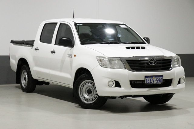 Used Toyota Hilux KUN16R MY12 SR, 2013 Toyota Hilux KUN16R MY12 SR White 5 Speed Manual Dual Cab Pick-up