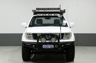 2011 Nissan Navara D40 ST (4x4) White 6 Speed Manual Dual Cab Pick-up.