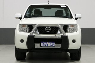 2012 Nissan Navara D40 MY12 ST (4x4) White 6 Speed Manual Dual Cab Pick-up.