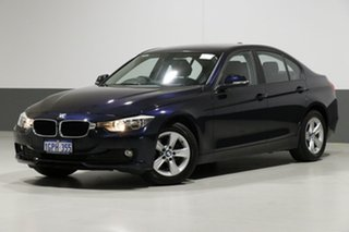 2014 BMW 316i F30 MY14 Blue 8 Speed Automatic Sedan.