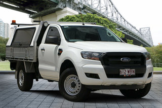2015 Ford Ranger PX XL 4x2 Hi-Rider White 6 Speed Sports Automatic Cab Chassis.