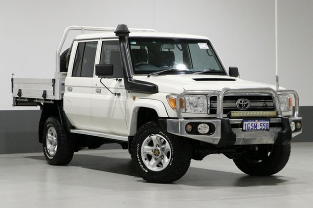 Used Toyota Landcruiser VDJ79R MY12 Update GXL (4x4), 2016 Toyota Landcruiser VDJ79R MY12 Update GXL (4x4) White 5 Speed Manual Double Cab Chassis