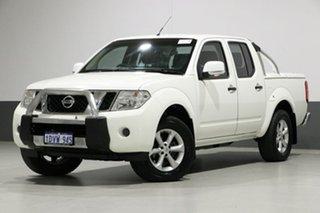 2012 Nissan Navara D40 MY12 ST (4x4) White 6 Speed Manual Dual Cab Pick-up.