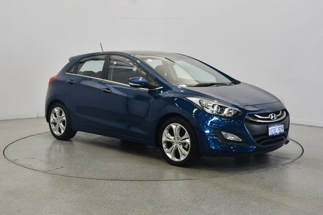Used Hyundai i30 GD MY14 Premium, 2013 Hyundai i30 GD MY14 Premium Dazzling Blue 6 Speed Sports Automatic Hatchback