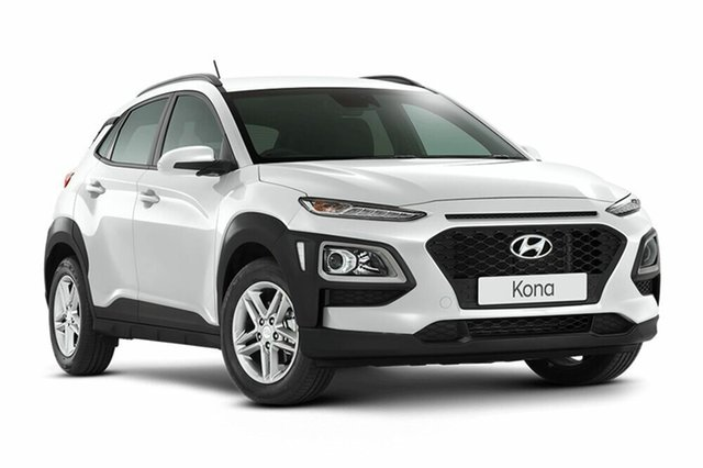 Demo Hyundai Kona OS.2 MY19 Active D-CT AWD, 2018 Hyundai Kona OS.2 MY19 Active D-CT AWD Chalk White 7 Speed Sports Automatic Dual Clutch Wagon