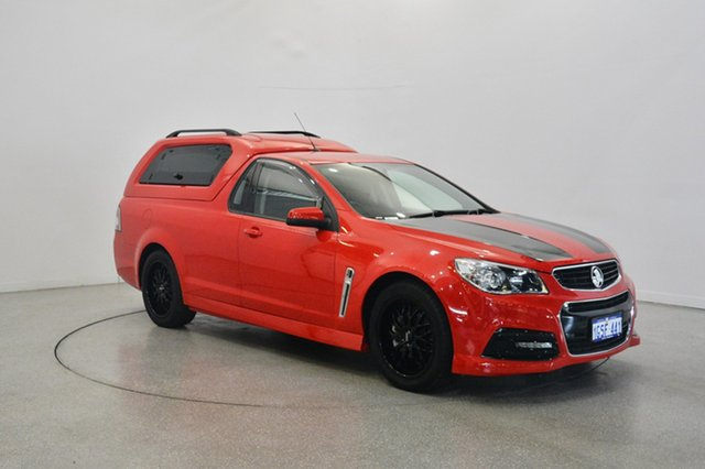 Used Holden Ute VF MY15 SV6 Ute, 2014 Holden Ute VF MY15 SV6 Ute Red 6 Speed Sports Automatic Utility