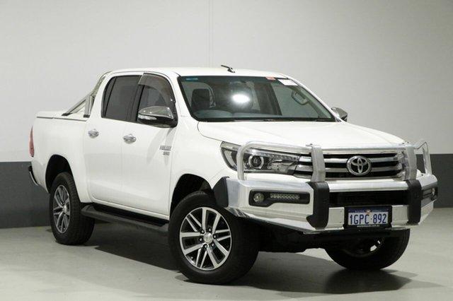 Used Toyota Hilux GUN126R SR5 (4x4), 2015 Toyota Hilux GUN126R SR5 (4x4) White 6 Speed Automatic Dual Cab Utility