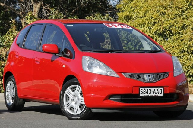 Used Honda Jazz GE MY09 VTi, 2008 Honda Jazz GE MY09 VTi Rallye Red 5 Speed Automatic Hatchback