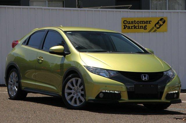 Used Honda Civic 9th Gen VTi-L, 2012 Honda Civic 9th Gen VTi-L Green 5 Speed Sports Automatic Hatchback
