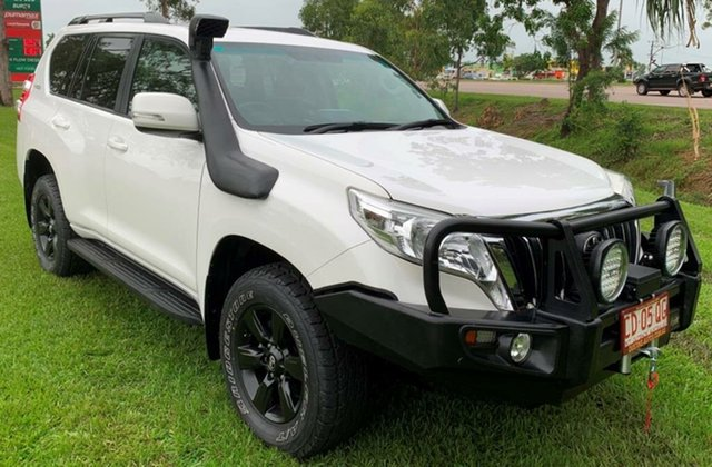 Used Toyota Landcruiser Prado KDJ150R MY14 GXL, 2015 Toyota Landcruiser Prado KDJ150R MY14 GXL White 5 Speed Automatic Wagon