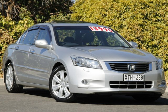 Used Honda Accord 8th Gen V6 Luxury, 2008 Honda Accord 8th Gen V6 Luxury Alabaster Silver 5 Speed Sports Automatic Sedan
