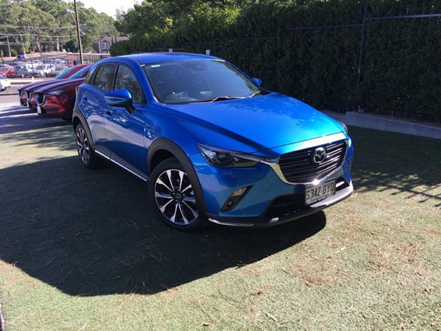Demo Mazda CX-3 DK2W7A sTouring SKYACTIV-Drive, 2018 Mazda CX-3 DK2W7A sTouring SKYACTIV-Drive Dynamic Blue 6 Speed Sports Automatic Wagon