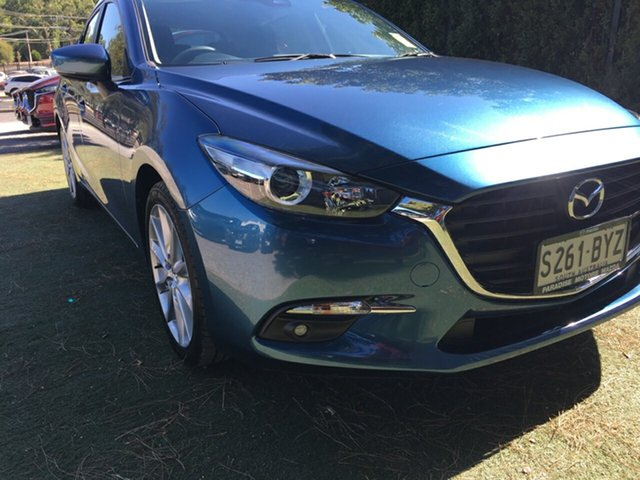 Demo Mazda 3 BN5438 SP25 SKYACTIV-Drive, 2018 Mazda 3 BN5438 SP25 SKYACTIV-Drive Eternal Blue 6 Speed Sports Automatic Hatchback
