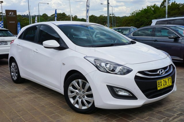 Used Hyundai i30 GD2 Active, 2013 Hyundai i30 GD2 Active White 6 Speed Sports Automatic Hatchback