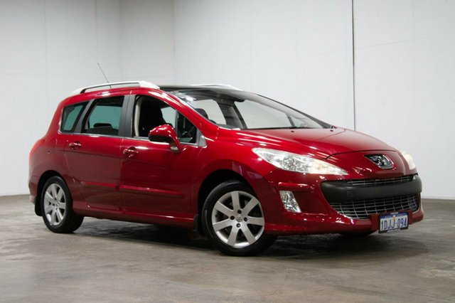 Used Peugeot 308 T7 XSE Turbo Touring, 2010 Peugeot 308 T7 XSE Turbo Touring Red 4 Speed Sports Automatic Wagon